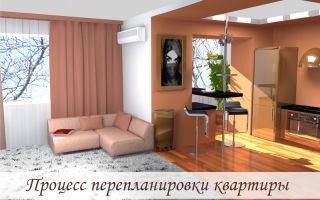 Процесс перепланировки квартиры