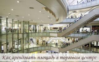 Как арендовать площадь в торговом центре