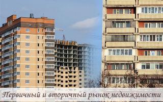 Первичный и вторичный рынок недвижимости