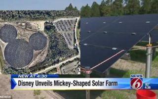 Флорида обзавелась солнечной электростанцией в виде Микки-Мауса