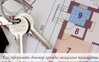 Как оформить договор аренды нежилого помещения